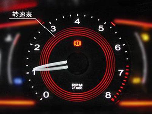 仪表盘刹车盘指示灯--   提示燃油不足的指示灯,该灯亮起时,表高清图片