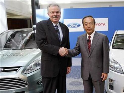福特丰田联手开发混合动力汽车高清图片